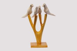 White Wood Birds Lepakshi Handicrafts